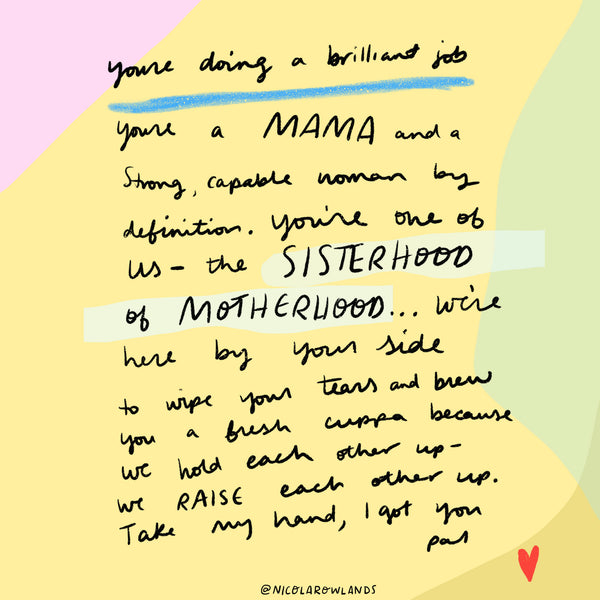 Sisterhood of Motherhood card