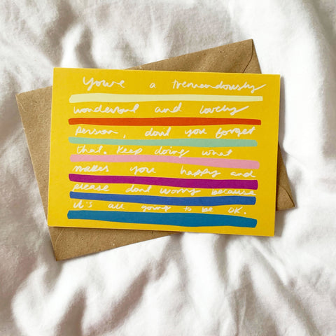 Tremendously Lovely card