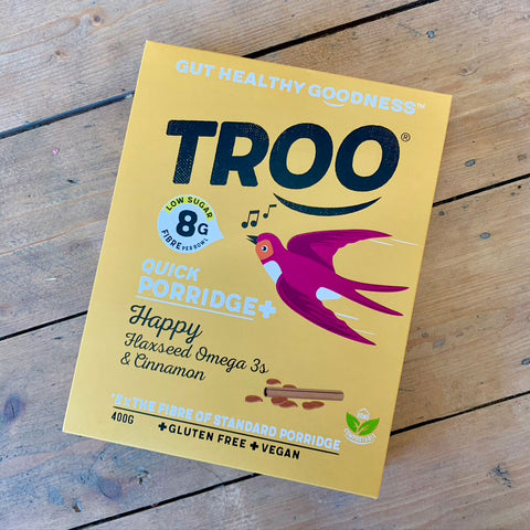Troo quick porridge: Happy Flaxseed Omega 3's and cinnamon 400g