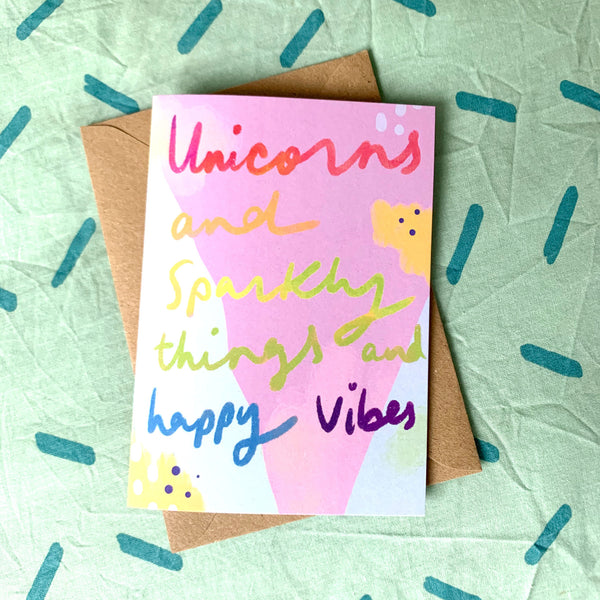 Unicorns & Sparkly Things card