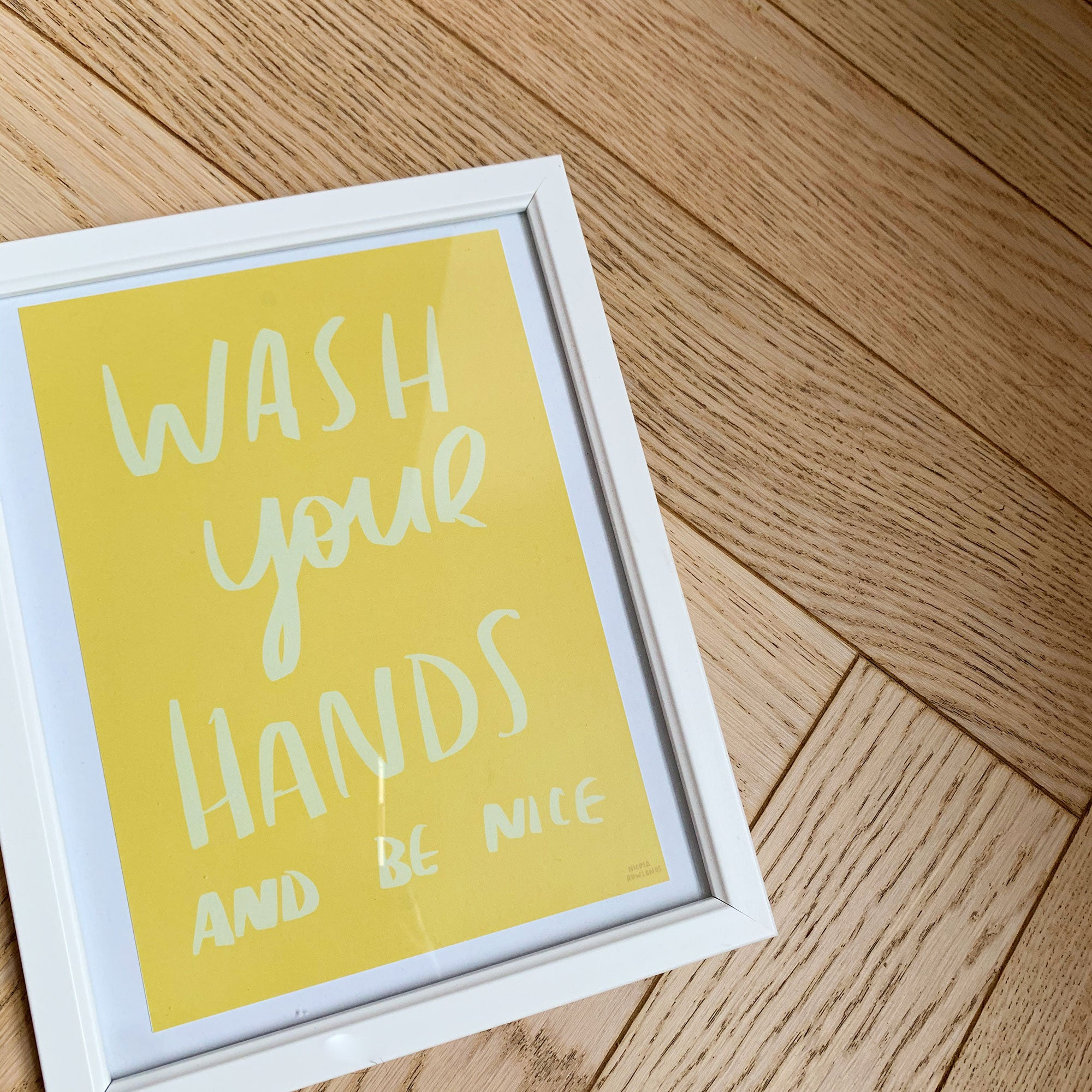 Wash your hands print