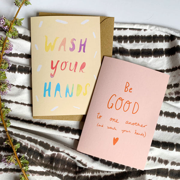 WASH YOUR HANDS card
