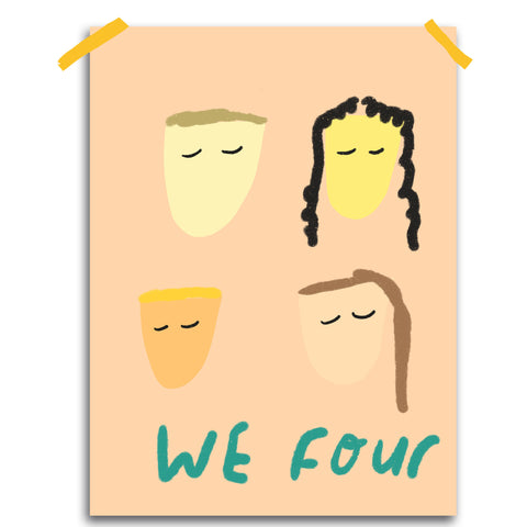 Custom family print: We four