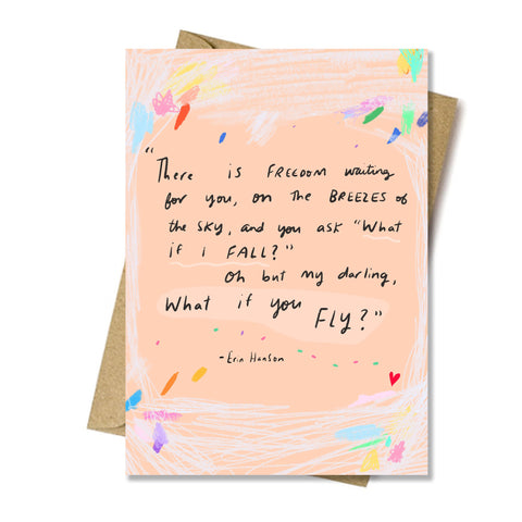 What if you fly? card