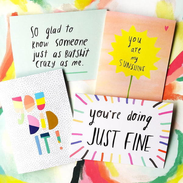 Doing JUST FINE Card