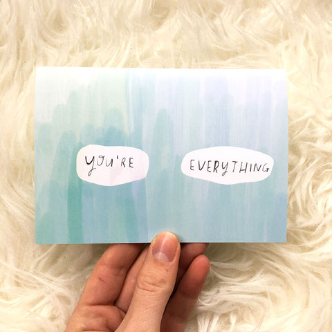 you're everything card