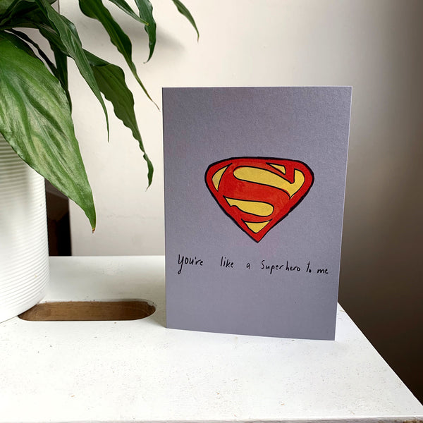 Superhero card