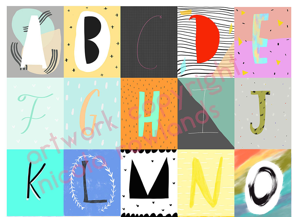 Alphabet print: pick any letter