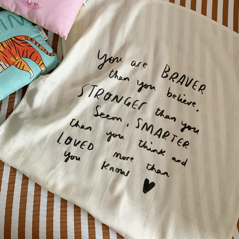 Braver than you think bamboo + organic cotton baby muslin cloth