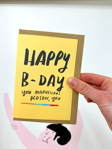 Marvellous person birthday card
