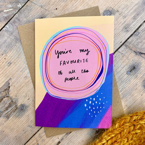 Favourite of all the people card