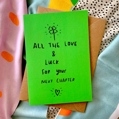 All the love and luck card