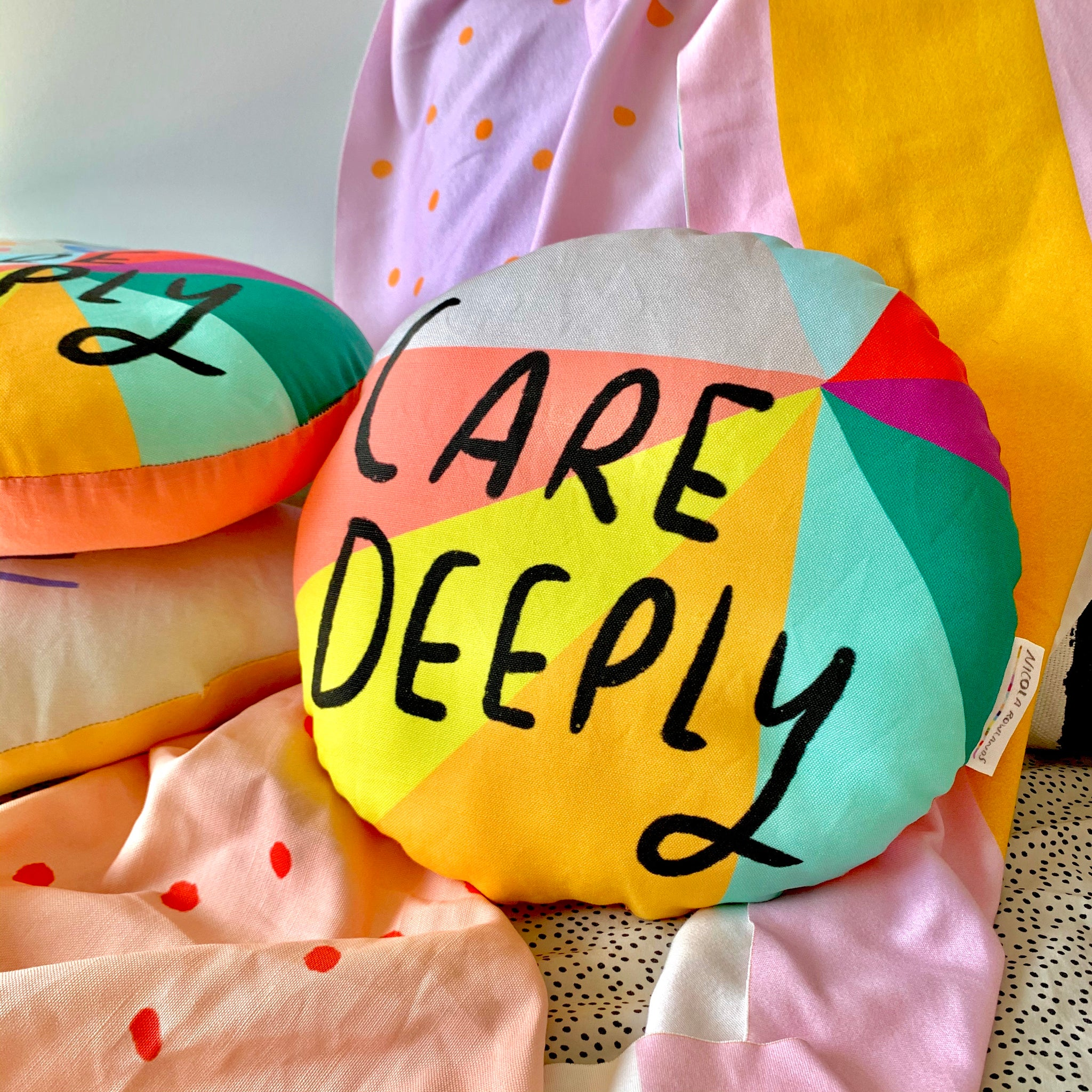 CARE DEEPLY plushie