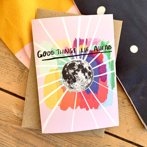 Good things lie ahead card
