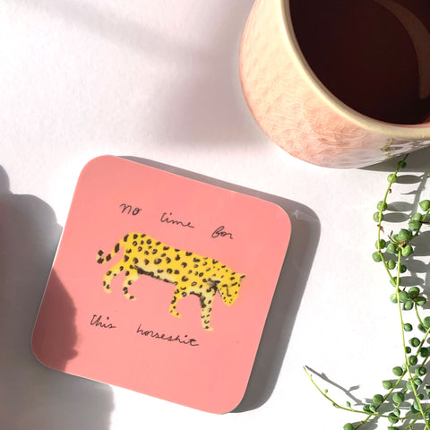 No time leopard coaster