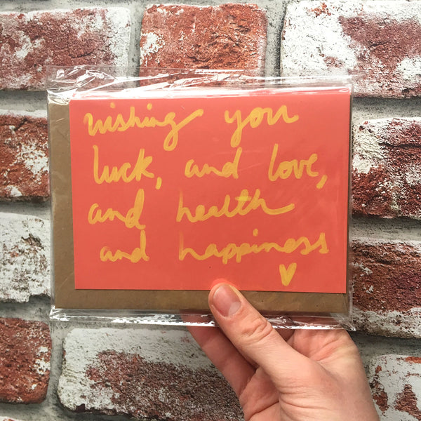 Love, Luck & Health card