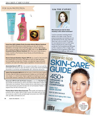 Organic Spa Skin Care guide, SPF for faces