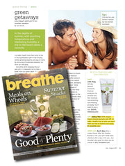 Breathe Magazine, Shimmer lip balm