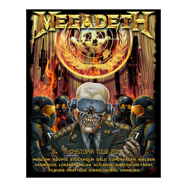 Megadeth European 2017 Tour Poster - SIGNED