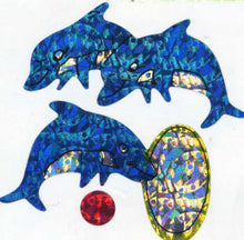 Load image into Gallery viewer, Pack of Prismatic Stickers - Dolphins