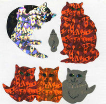 Load image into Gallery viewer, Pack of Prismatic Stickers - Sparkly Cats