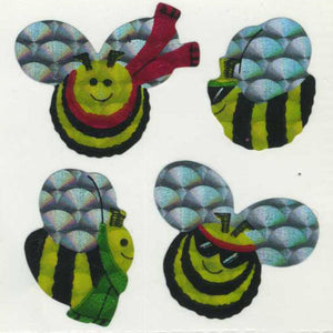 Pack of Prismatic Stickers - Bees