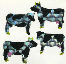 Load image into Gallery viewer, Pack of Prismatic Stickers - Cows
