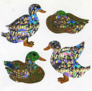 Pack of Prismatic Stickers - Mallards