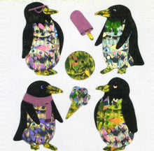 Load image into Gallery viewer, Pack of Prismatic Stickers - Penguins