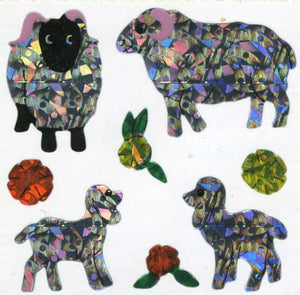 Pack of Prismatic Stickers - Sheep Family