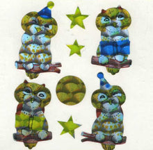 Load image into Gallery viewer, Pack of Prismatic Stickers - Cute Owls