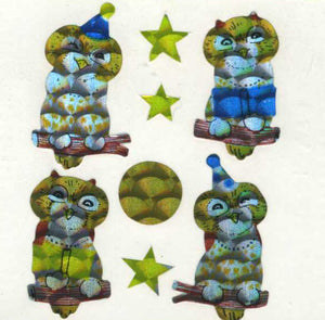 Pack of Prismatic Stickers - Cute Owls