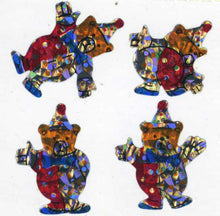 Load image into Gallery viewer, Pack of Prismatic Stickers - Teddy Clowns