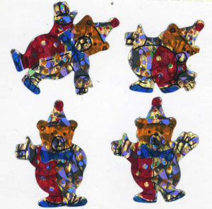 Pack of Prismatic Stickers - Teddy Clowns
