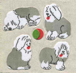 Pack of Furrie Stickers - Sheepdog Puppies