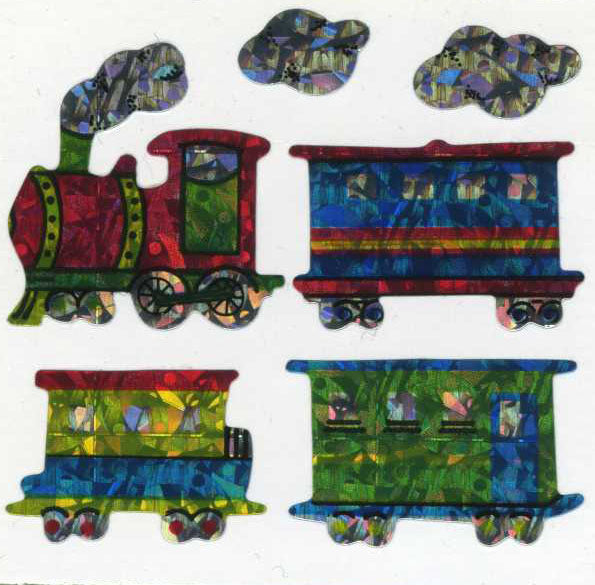 Pack of Prismatic Stickers - Steam Trains