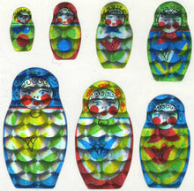 Load image into Gallery viewer, Pack of Prismatic Stickers - Russian Dolls