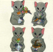 Load image into Gallery viewer, Pack of Prismatic Stickers - Mr & Mrs Mouse