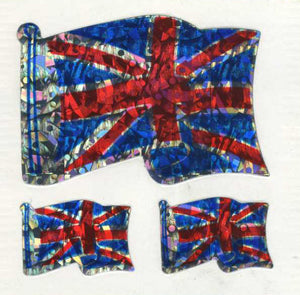 Pack of Prismatic Stickers - Union Jacks X 3