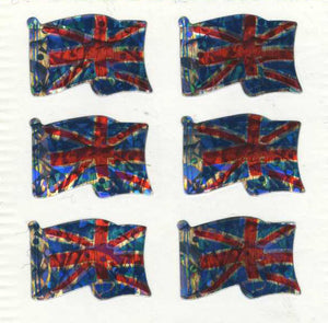Pack of Prismatic Stickers - Union Jacks X 6