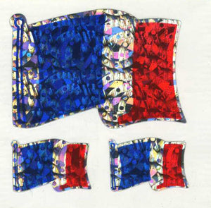 Pack of Prismatic Stickers - French Flags X 3
