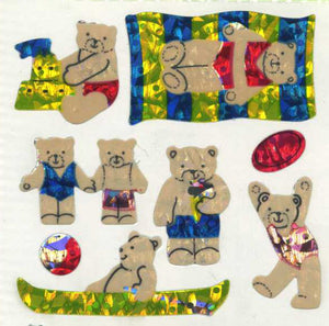 Pack of Prismatic Stickers - Micro Teddy Seaside
