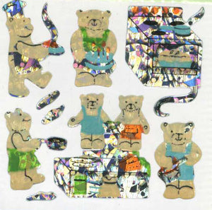 Pack of Prismatic Stickers - Micro Teddy Kitchen