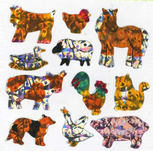 Pack of Prismatic Stickers - Micro Farmyard Friends