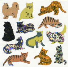 Load image into Gallery viewer, Pack of Prismatic Stickers - Micro Cats