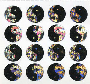 Pack of Prismatic Stickers - Yin Yang