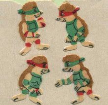Load image into Gallery viewer, Pack of Furrie Stickers - Ninja Hedgehogs