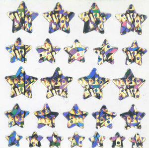 Pack of Prismatic Stickers - Silver Stars