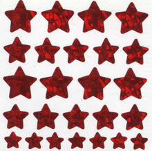 Load image into Gallery viewer, Pack of Prismatic Stickers - Red Star