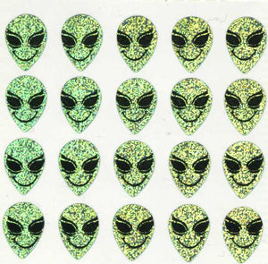 Pack of Prismatic Stickers - Smiley Alien